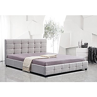 Linen Fabric King Deluxe Bed Frame Beige