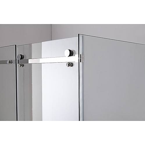 Shower Screen 1200x900x1950mm Frameless Glass Sliding Door