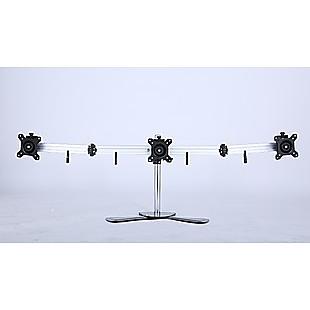 Triple Tilt LCD Monitor Mount Freestanding Desktop Stand