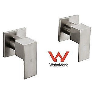 Chrome Shower/Bath Mixer Tap Set with Brushed Finish w/ WaterMark