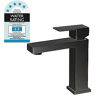 Basin Mixer Tap Faucet Electroplated Matte Black Finish
