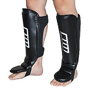 Gel Shin Instep Foot Pads MMA UFC Leg Kick Guards Muay Thai Boxing - Large