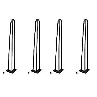Set of 4 Industrial Retro Hairpin Table Legs 12mm Steel Bench Desk 71cm Leg