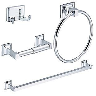 4 Piece Towel Bar Set Bath Accessories Bathroom Hardware