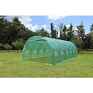 Walk In Greenhouse Tunnel Plant 6M X3M Garden Storage PE Grow Sheds Green House