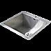 530x505mm Handmade Stainless Steel Topmount Kitchen Laundry Sink with Waste