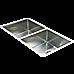 865x440mm Handmade Stainless Steel Undermount / Topmount Kitchen Sink with Waste