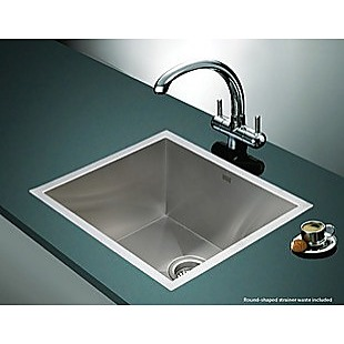 510x450mm Handmade Stainless Steel Undermount / Topmount Kitchen Laundry Sink with Waste