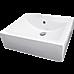 Ceramic Rectangular Above Countertop Basin for Vanity