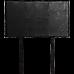 PU Leather Single Bed Headboard Bedhead - Black