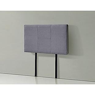Linen Fabric Single Bed Headboard Bedhead - Grey
