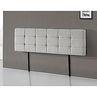 Linen Fabric King Bed Deluxe Headboard Bedhead - Beige