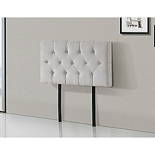 Linen Fabric Single Bed Deluxe Headboard Bedhead - Beige