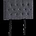 Linen Fabric Single Bed Deluxe Headboard Bedhead - Grey
