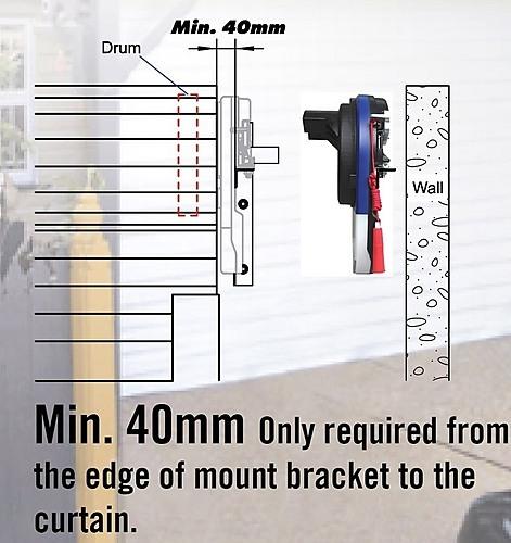 500N Max Automatic Garage Roller Door Opener Motor With