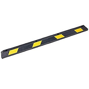 180cm Heavy Duty Rubber Curb Parking Guide Wheel Driveway Stopper Reflective Yellow
