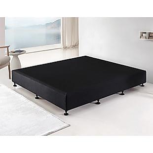 Palermo King Single Ensemble Bed Base Midnight Black Linen Fabric