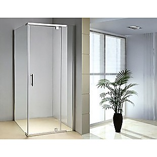 Shower Screen 1000x1000x1900mm Framed Safety Glass Pivot Door By Della Francesca
