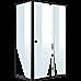 Semi Frameless Shower Screen (114~122)x 195cm & (77~80)x 195cm Side AS/NZS Glass