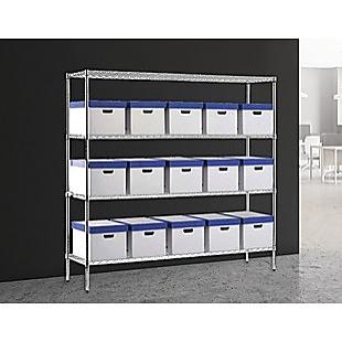 Modular Chrome Wire Storage Shelf 1500 x 350 x 1800 Steel Shelving