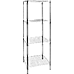 Modular Chrome Wire Storage Shelf 600 x 600 x 1800 Steel Shelving