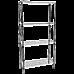 Modular Chrome Wire Storage Shelf 900 x 350 x 1800 Steel Shelving