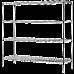Modular Chrome Wire Storage Shelf 1500 x 600 x 1800 Steel Shelving