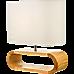 Wooden Modern Table Lamp Timber Bedside Lighting Desk Reading Light Brown White