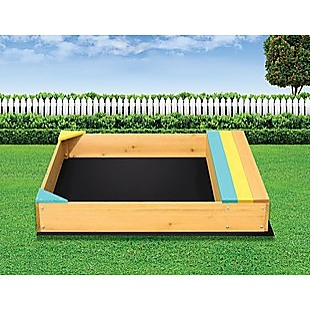 Wooden Kids Backyard Sandbox Children Outdoor Play Toy Sandpit