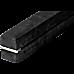 2.45m (8FT) Gymnastics Folding Balance Beam Black Synthetic Suede