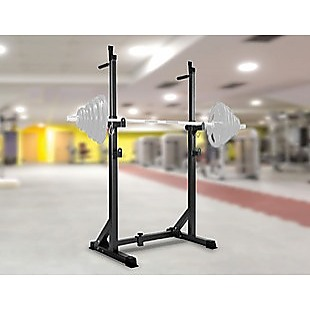 Commercial Squat Rack Adjustable Pair Fitness Exercise Weight Lifting Gym Barbell Stand
