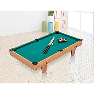 Kids Mini Billiard Table Game Toy Wooden Snooker Pool Home Fun Birthday Gift