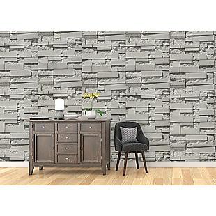 Wallpaper Brick Pattern 3D Textured Non-woven Wall Paper Roll