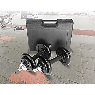 20kg Black Dumbbell Set with Carrying Case