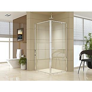 Semi Frameless Shower Screen (82~90)x 195cm & (98~101)x 195cm Side AS/NZS Glass