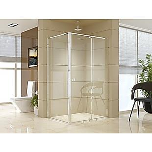 Semi Frameless Shower Screen (114~122)x 195cm & (89~92)x 195cm Side AS/NZS Glass