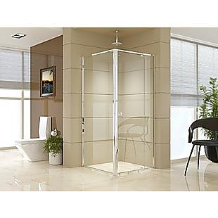 Semi Frameless Shower Screen (82~90)x 195cm & (89~92)x 195cm Side AS/NZS Glass