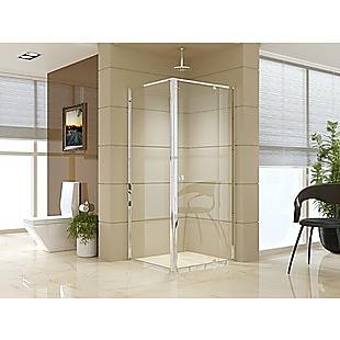 Semi Frameless Shower Screen (82~90)x 195cm & (77~80)x 195cm Side AS/NZS Glass