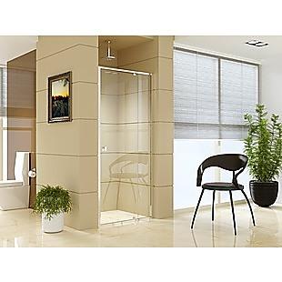 Adjustable Semi Frameless Shower Screen (82~90) x 195cm Australian Safety Glass