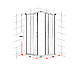 800 x 900mm Sliding Door Nano Safety Glass Shower Screen By Della Francesca