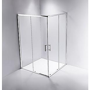 1200 x 800mm Sliding Door Nano Safety Glass Shower Screen By Della Francesca
