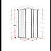 800 x 900mm Sliding Door Nano Safety Glass Shower Screen By Della Francesca
