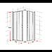1200 x 900mm Sliding Door Nano Safety Glass Shower Screen By Della Francesca