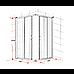 1200 x 1000mm Sliding Door Nano Safety Glass Shower Screen By Della Francesca