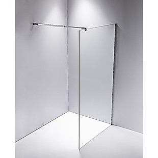 1200 x 2100mm Frameless 10mm Safety Glass Shower Screen