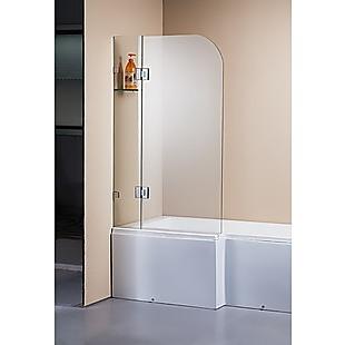 1200 x 1450mm Frameless Bath Panel 10mm Glass Shower Screen By Della Francesca