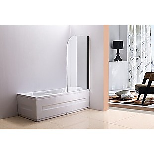 180° Pivot Door 6mm Safety Glass Bath Shower Screen 900x1400mm By Della Francesca