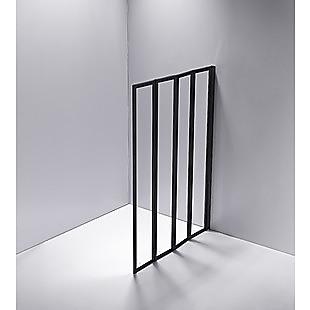 4 Fold Black Folding Bath Shower Screen Door Panel 1000 x 1400mm