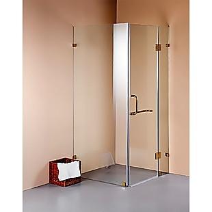 900 x 800mm Frameless 10mm Glass Shower Screen By Della Francesca