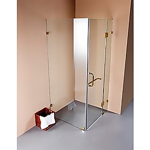 1000 x 900mm Frameless 10mm Glass Shower Screen By Della Francesca